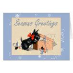 Scottie Dog Season's Greetings Holiday card