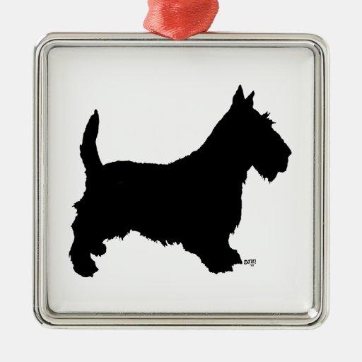Scottie Dog Silhouette Ornament