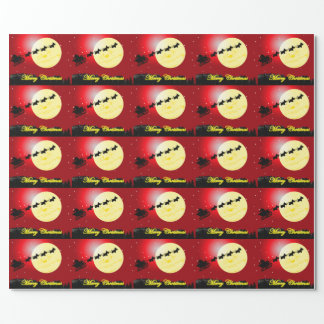 Scottie Dog Sleigh Wrapping Paper