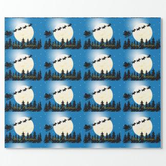 Scottie Dog Sleigh Gift Wrap