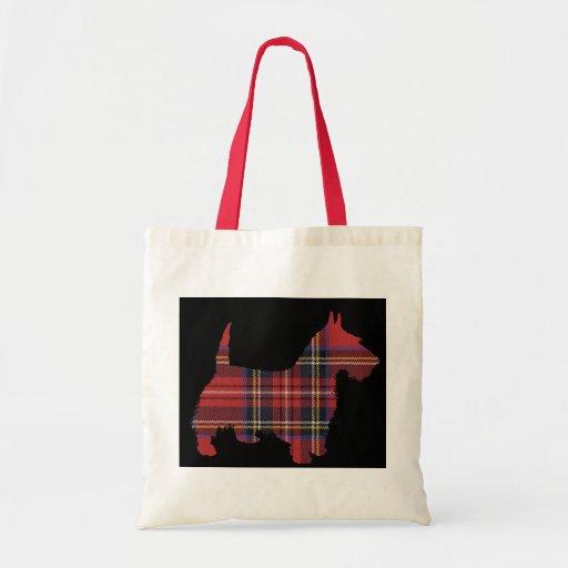 Scottie Dog Tartan Tote Bags