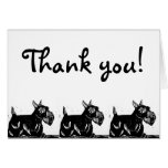 Scottie Dog Thank You Card