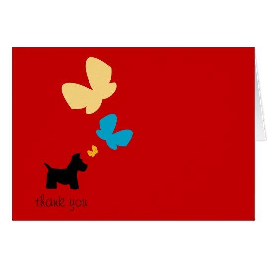 Scottie Dog Thanks Card