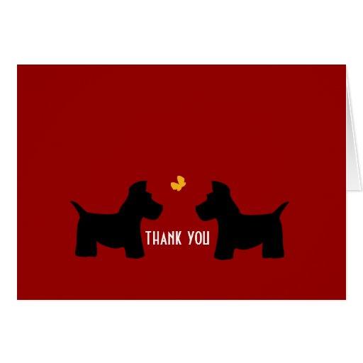 Scottie Dog Thanks Cards