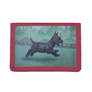 Scottie dog trifold wallet