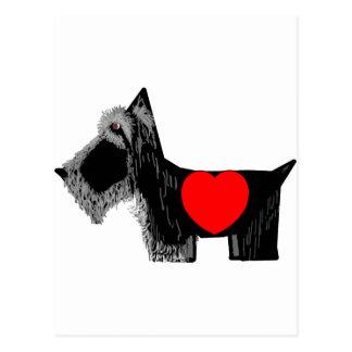 Scottie Dog Valentine Postcard