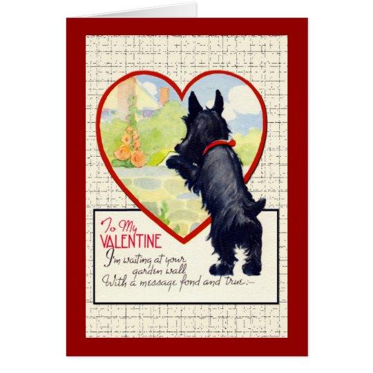 Scottie dog Valentine Scottish Terrier Card