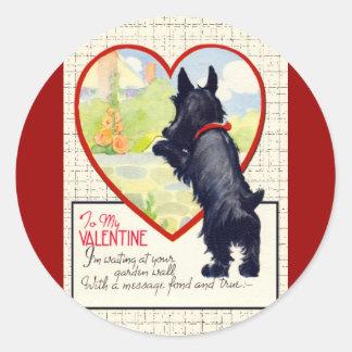 Scottie dog Valentine Scottish Terrier Classic Round Sticker