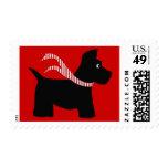 Scottie Dog Winter Stamp