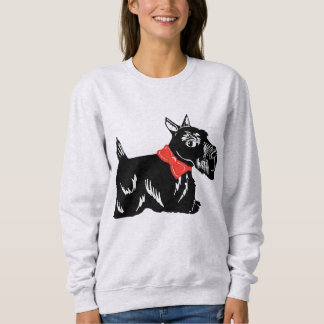 Scottie Dog with a Red Bow Women's Sweatshirt