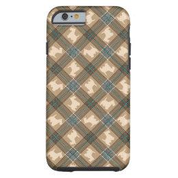 Scottie Dog With Plaid iPhone 6 Case