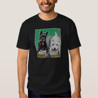 Scottie dogs Blackie and Whitie on the radio Tee Shirt