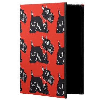 Scottie Dogs Pattern Red iPad Case