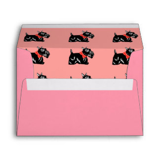 Scottie Dogs Pink A7 Greeting Card Envelopes