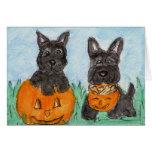 Scottie Dogs pumpkins Halloween etc. terrier Card