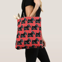 Scottie Dogs Red All-Over Print Tote Bag