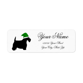 Scottie Elf Return Address Label