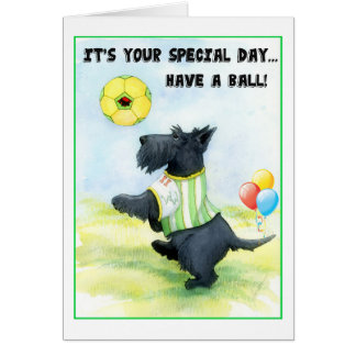 Scottie Football Birthday Wishes Card
