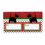 Scottie Fun Christmas Gift Tag Scottish Terrier Shipping Labels