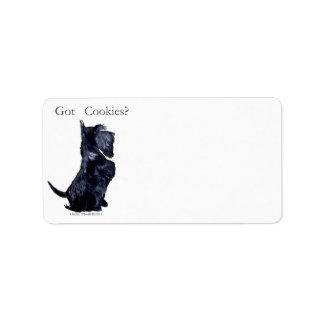 Scottie - Got Cookies Label