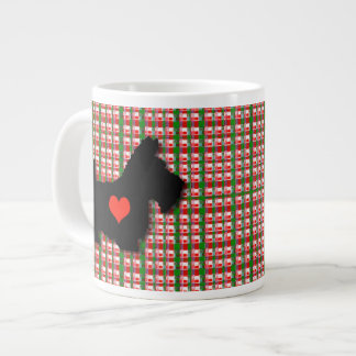 Scottie Heart Love Jumbo Mug 20 Oz Large Ceramic Coffee Mug