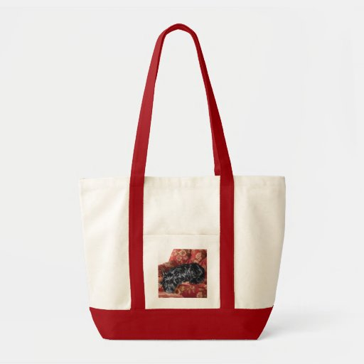 Scottie in a Big Red Chair Canvas Bag