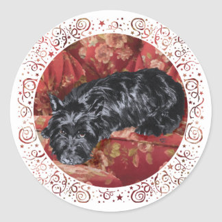 Scottie in a Big Red Chair Stickers