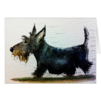 Scottie in a hurry greeting card