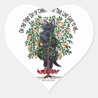 Scottie in a Pear Tree Sticker