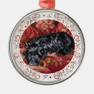 Scottie in Big Red Chair Christmas Tree Ornament