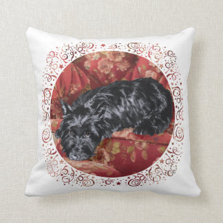 Scottie in Big Red Chair Pillow