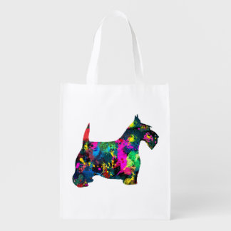 Scottie in Colors Reusable Grocery Bags