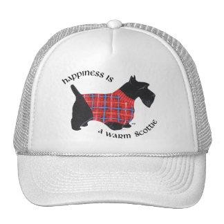 Scottie in Red & Blue Plaid Sweater Trucker Hat