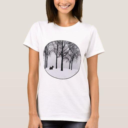 Scottie in Snowy Woods T-Shirt