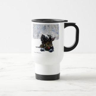 Scottie in the Snow Travel Mug