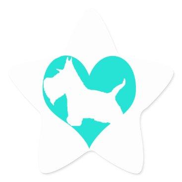McTiffany Tiffany Aqua Scottie Love Star Sticker