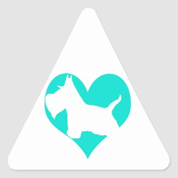 McTiffany Tiffany Aqua Scottie Love Triangle Sticker