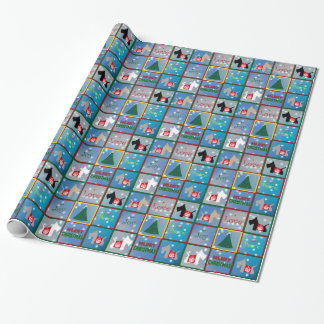 Scottie Merry Christmas Wrapping Paper