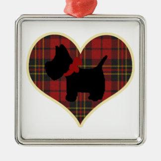 Scottie Metal Ornament