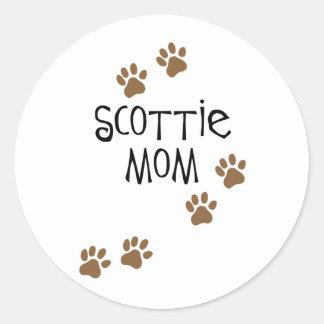 Scottie Mom Classic Round Sticker