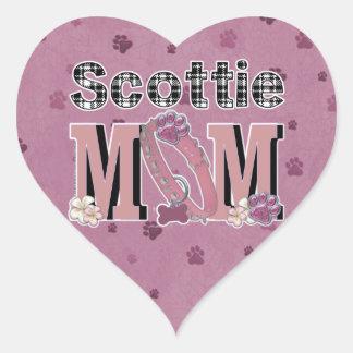 Scottie MOM Heart Sticker