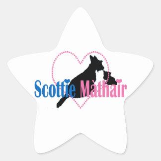 Scottie Mom Star Sticker
