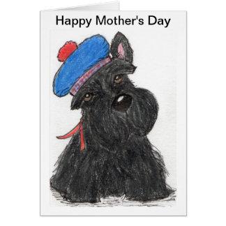 Scottie Mother's Day Card Mum nana scottish