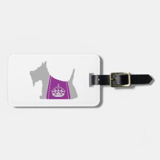 Scottie No. 15 Gray Royal Crown Travel Bag Tag