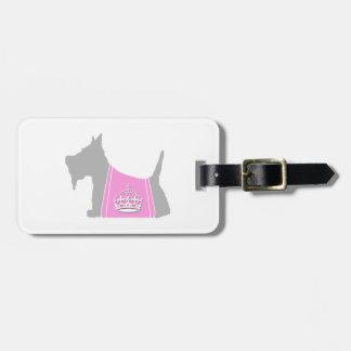 Scottie No. 15 Gray Royal Crown Bag Tag