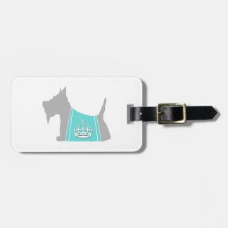Scottie No. 15 Gray Royal Crown Travel Bag Tags