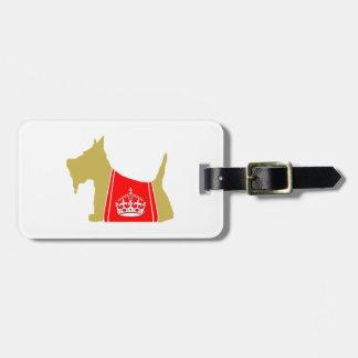 Scottie No. 15 Wheaten Royal Crown Travel Bag Tag