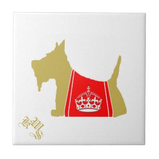 Scottie No. 15 Wheaten Royal Crown Small Square Tile