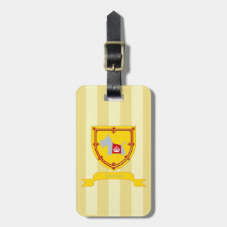 Scottie No 8 Gray Royal Crown Tag For Luggage