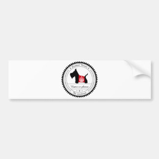 Scottie No 8 Royal Crown Bumper Sticker